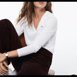 Lacoste White long sleeve tee